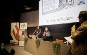 Ympäristöaktivistit Huck Middeke ja Pauliina Helle