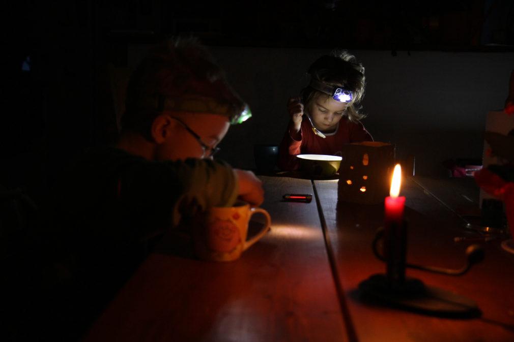 Otsalamput käytössä sähkökatkon aikana.